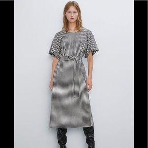 Zara Houndstooth Dress. NWT